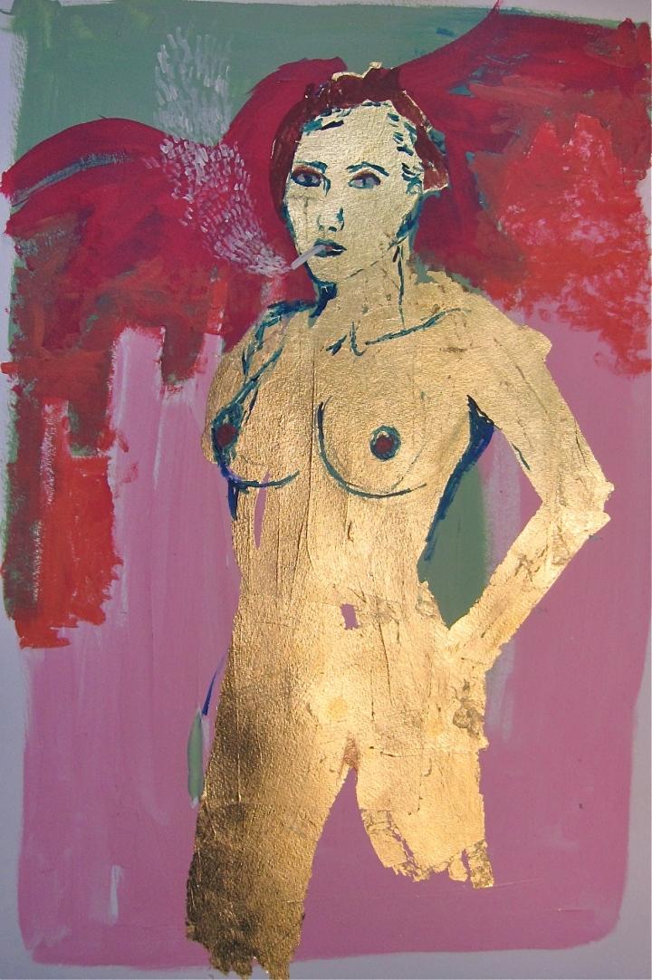 Dyana Gray, smoking, australian, neo expressionism